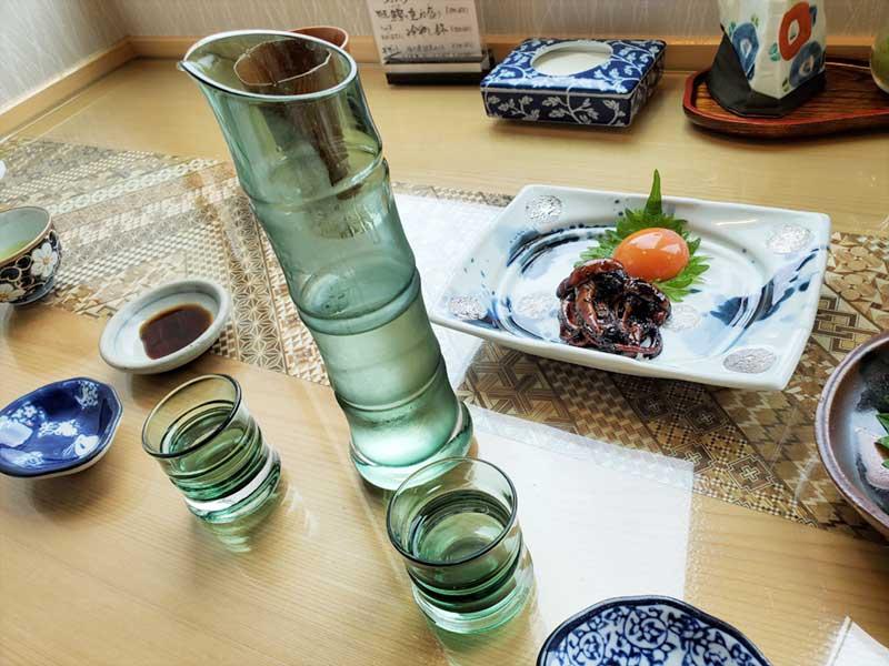 涼しい竹のグラス
