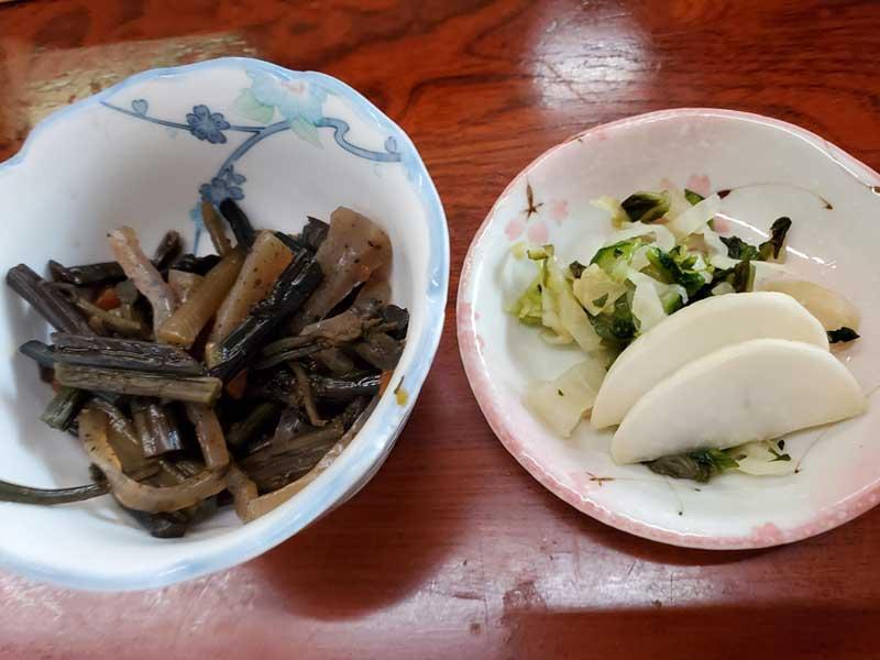 山菜とお新香