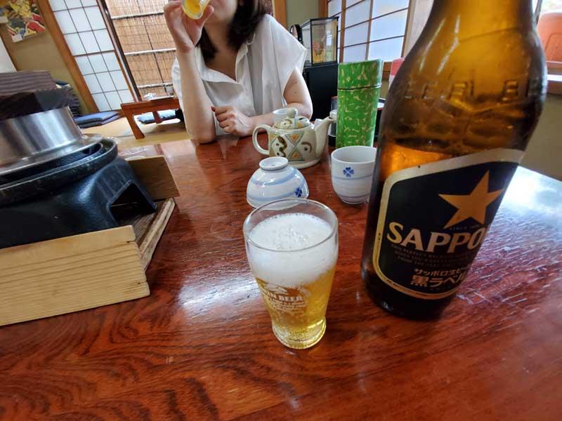 風呂上がりにサッポロビール(大瓶)