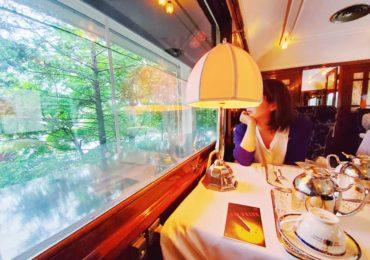 【箱根ラリック美術館・限定鉄道カフェ「ル・トラン」】本物のオリエント急行の車内で贅沢ティータイム!ラリックの芸術品も間近で!