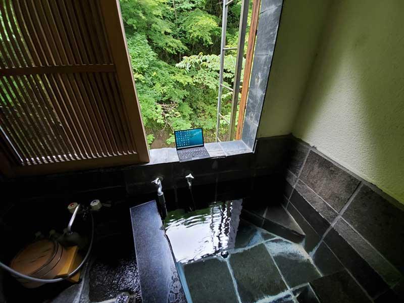 温泉で快適な湯ワーキング