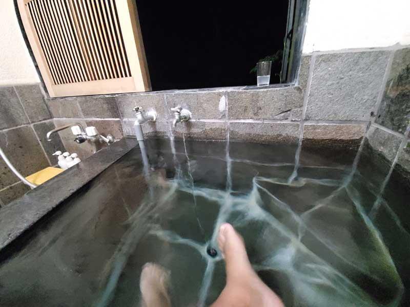 部屋風呂さいこー