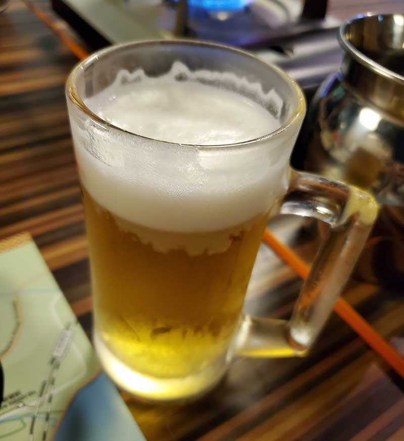 ビールがキンキンに冷えてやがる!