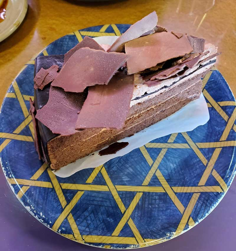 チョコケーキいただきました